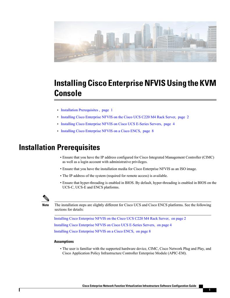 Installing Cisco Enterprise NFVIS Using the KVM Console
