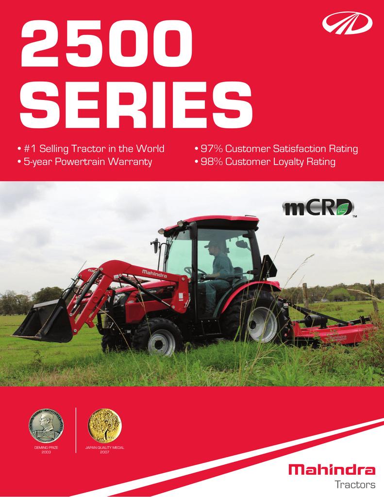 Mahindra 2500 Series Tractor Specifications | manualzz com