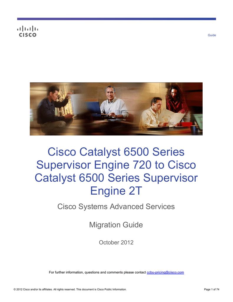 Cisco Catalyst 6500 Series Supervisor Engine 720 to Cisco