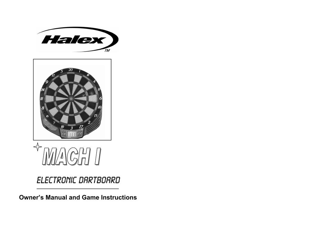 Halex Mach I Electronic Dartboard 1 | manualzz.com on