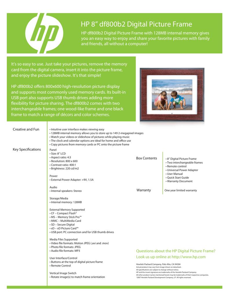 HP Pavilion Data Sheet   manualzz.com