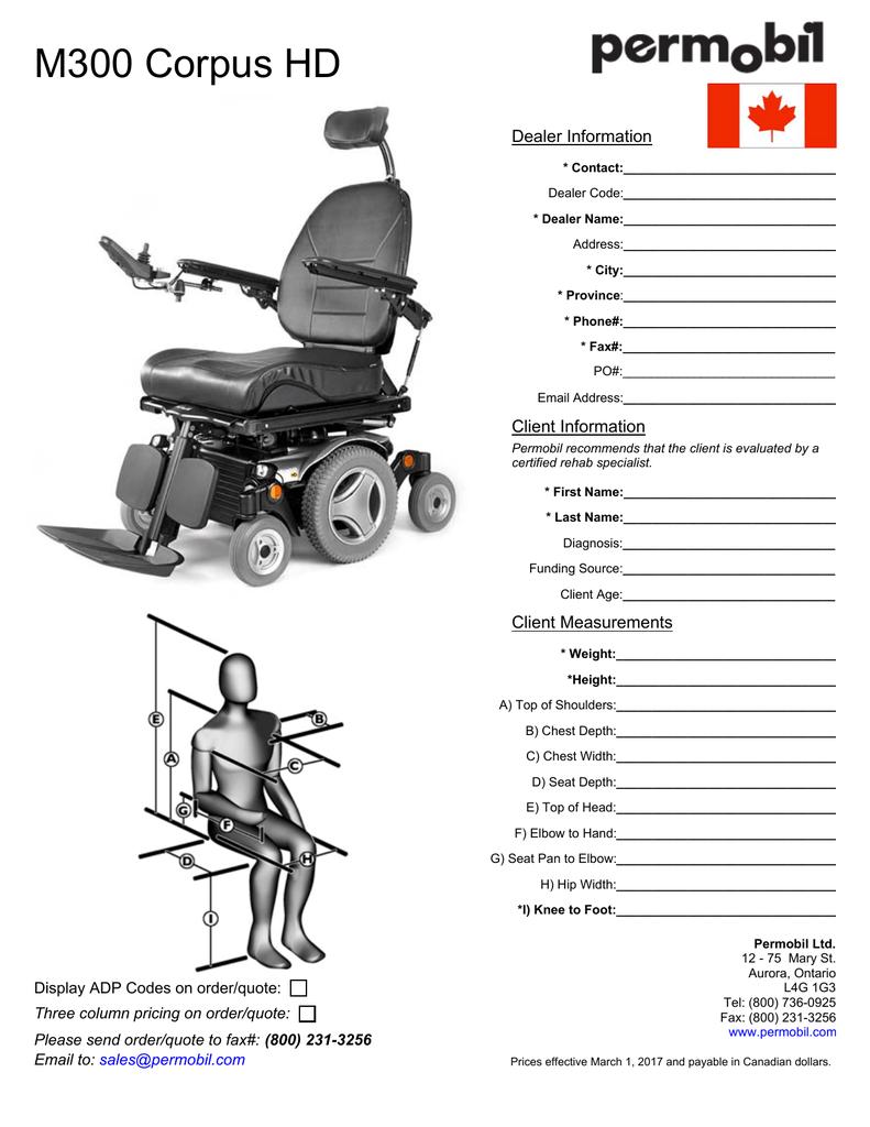 M300 Corpus HD Order Form – CAN   manualzz com