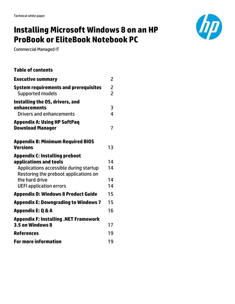 HP EliteBook Revolve 810 G1 Base Model Tablet User manual | manualzz com