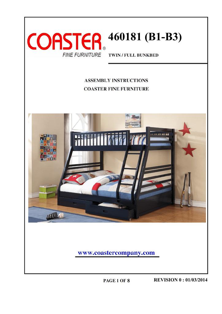 Coaster Furniture, Coaster Fine Furniture Assembly Instructions