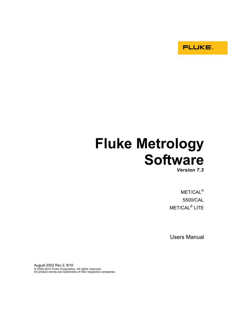 Fluke Metcal Support
