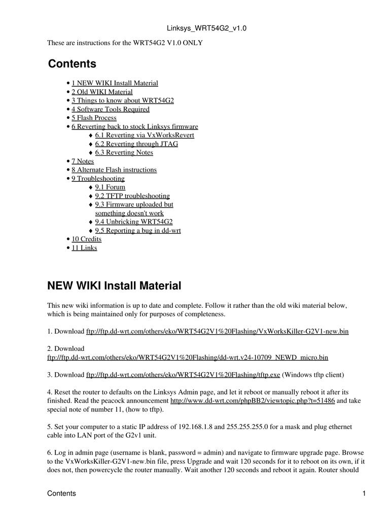 Linksys WRT54G2 v1 - DD-WRT | manualzz com