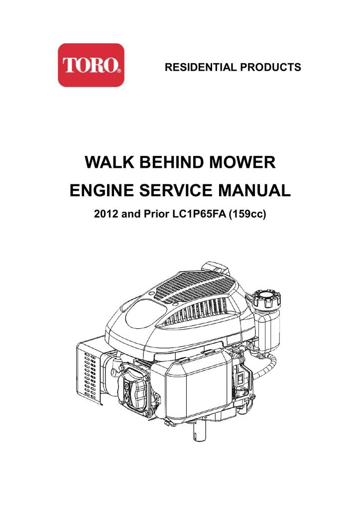 walk behind mower engine service manual | manualzz com