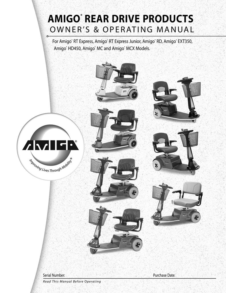 AMIGO® REAR DRIVE PRODUCTS - Mobility Scooters Amigo | Manualzzmanualzz