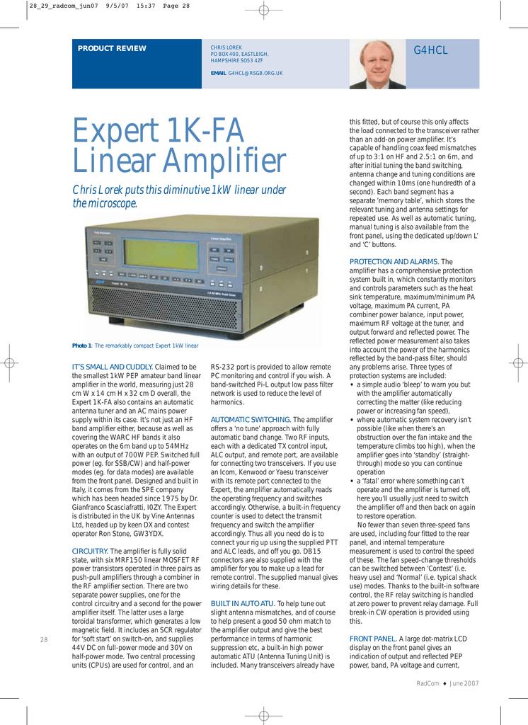 Expert 1K-FA Linear Amplifier | manualzz com