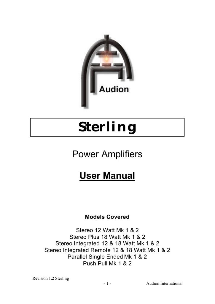Sterling - Ouir/CH   manualzz com