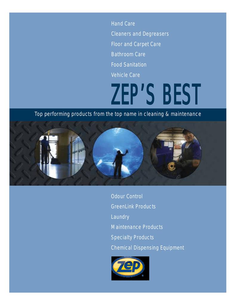 Exclusively your Zep green link floor stripper