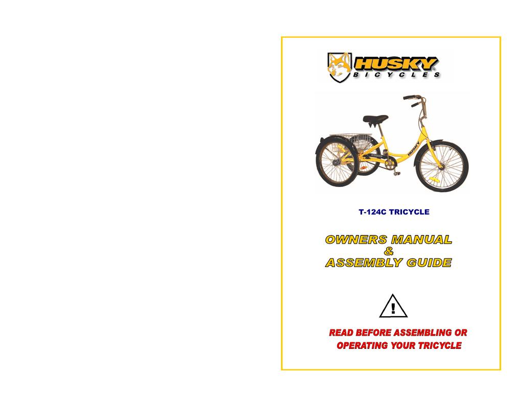 T 124c Tricycle Husky Bicycles Manualzz