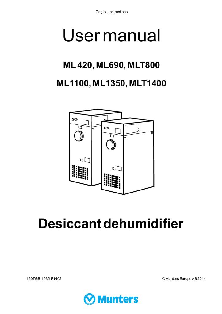 manual munters manualzz com rh manualzz com Operators Manual Instruction Manual
