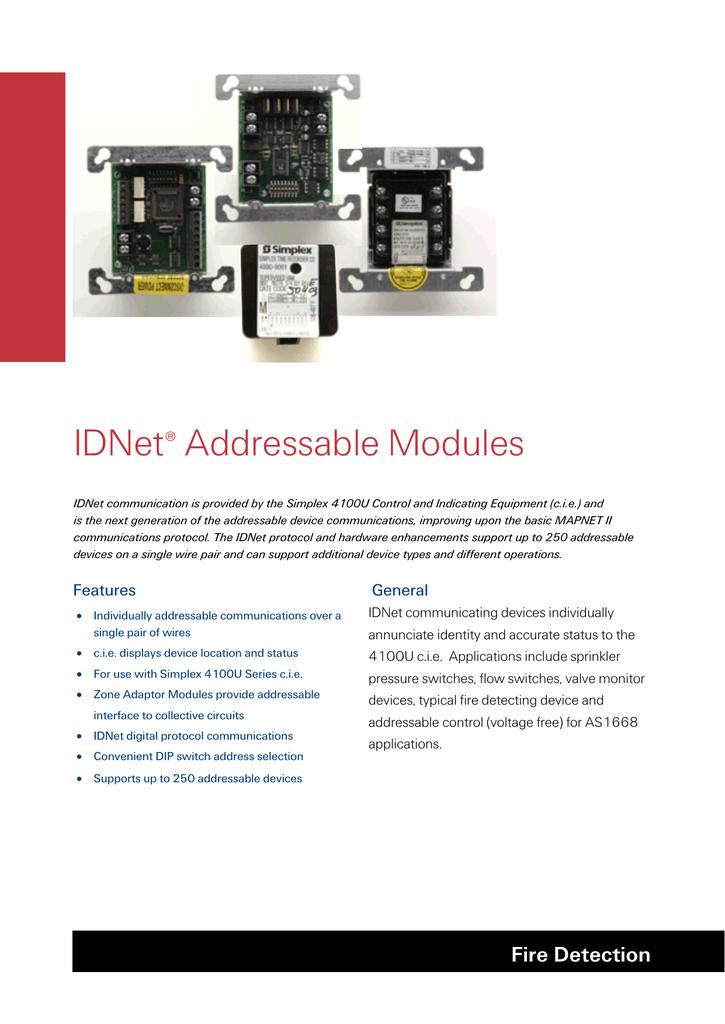 IDNet Addressable Modules | manualzz.com