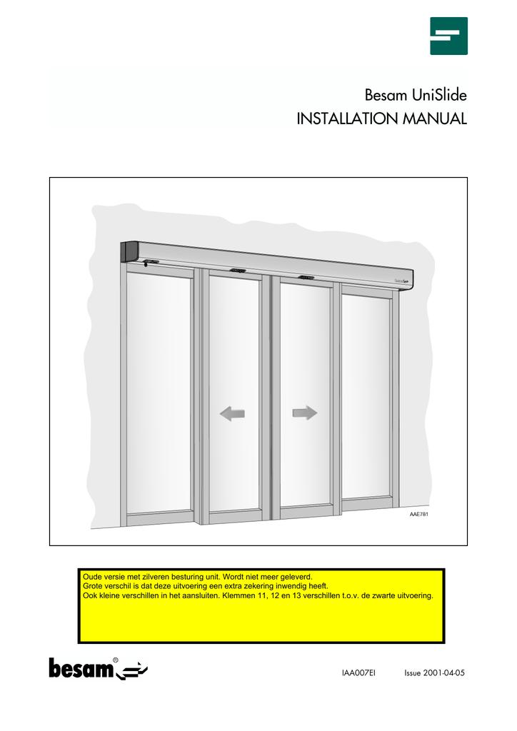besam unislide installation manual manualzz com rh manualzz com besam sw300 installation manual besam power swing installation manual
