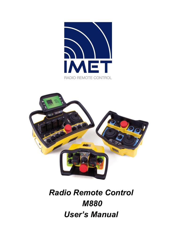 radio remote control m880 user`s manual