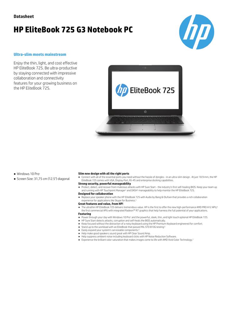 HP ELITEBOOK 725 G3 REALTEK CARD READER WINDOWS 7 DRIVERS DOWNLOAD (2019)