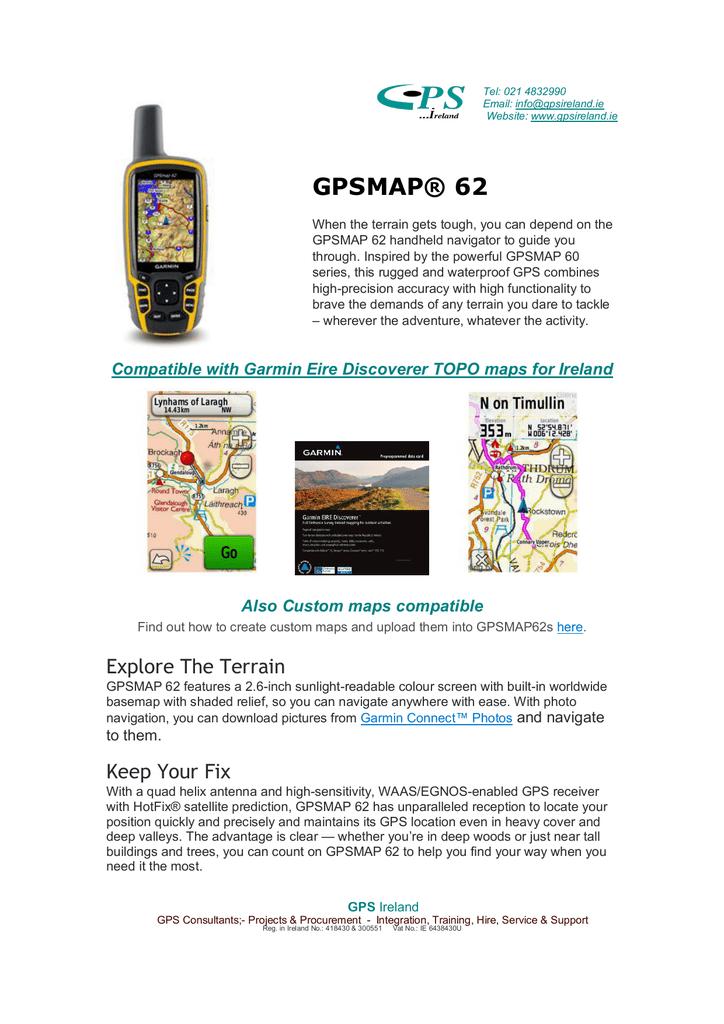 gpsmap® 62 - GPS Ireland | manualzz com