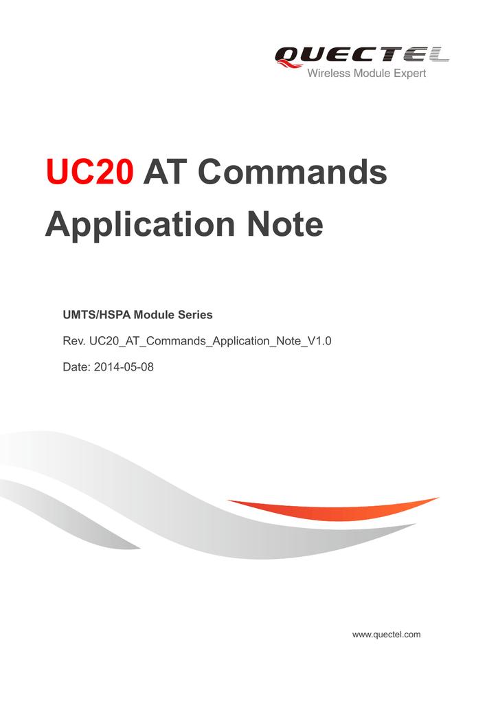 UC20 AT Commands Application Note | manualzz com