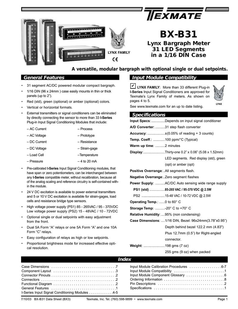 Bx B31 Data Sheet Bx3 Electro Manualzzcom