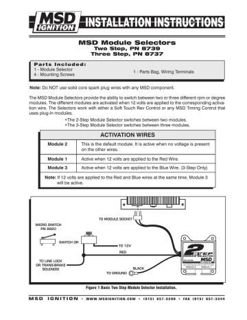 Msd 8739 Rpm Module Selector, Msd 2 Step 8739 Wiring Diagram