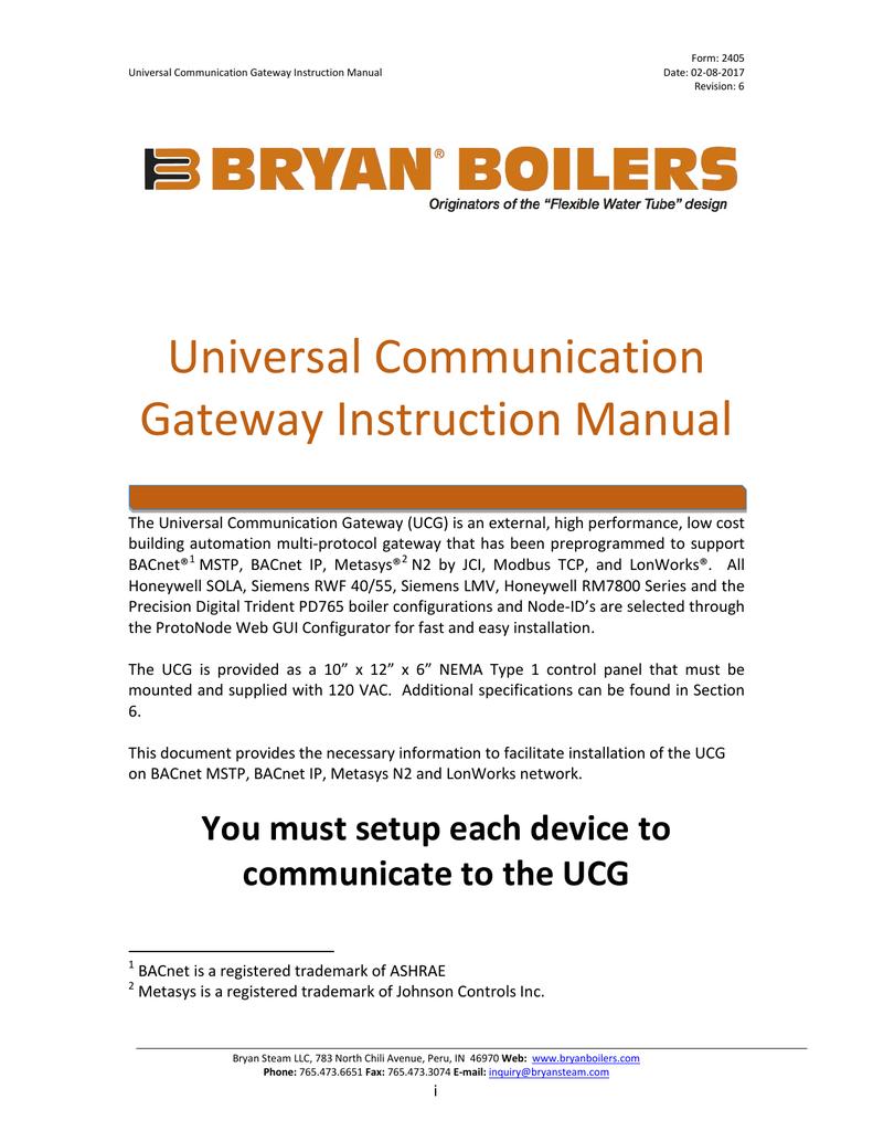 Enjoyable Universal Communication Gateway Instruction Manual Manualzz Com Wiring Cloud Usnesfoxcilixyz
