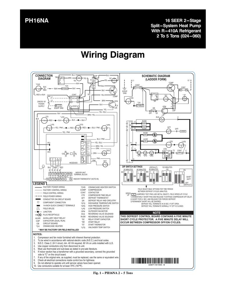 Refrigeration Wiring Diagram 5 Ton Wiring Diagram B7