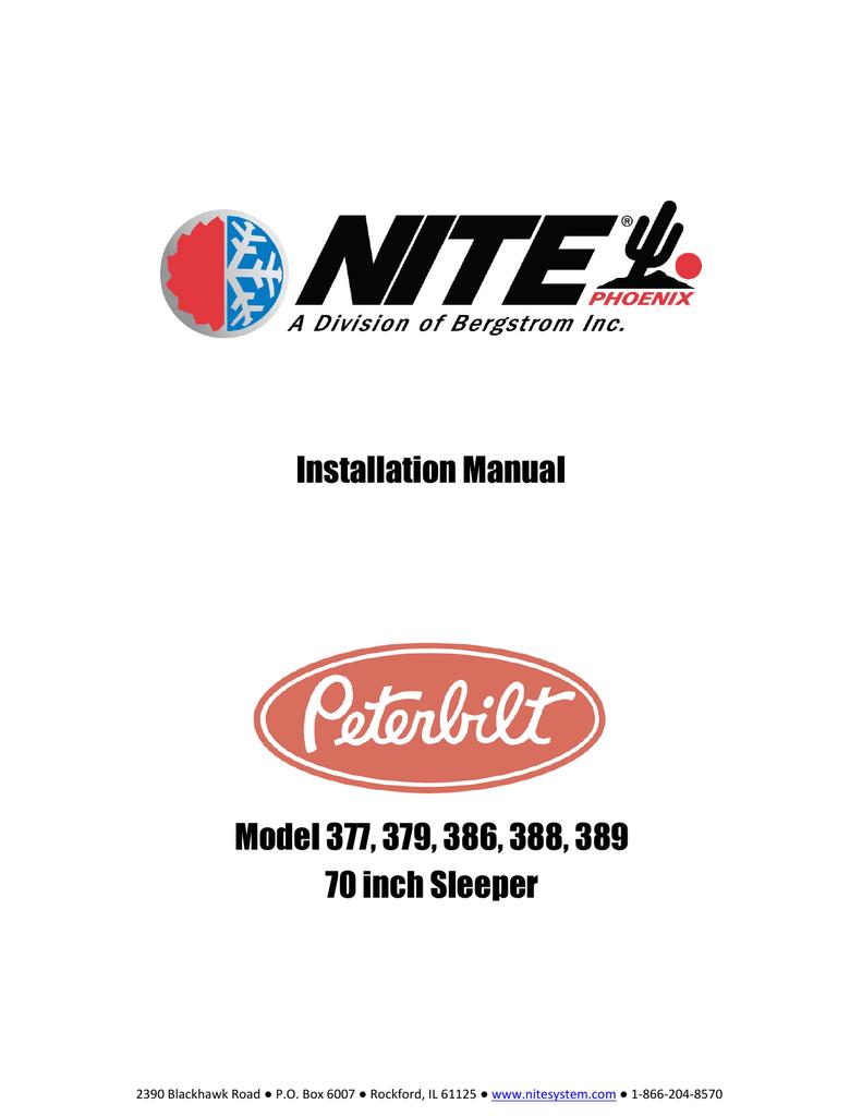 peterbilt 377 fuse box installation manual model 377  379  386  388  389 70 inch sleeper  installation manual model 377  379  386