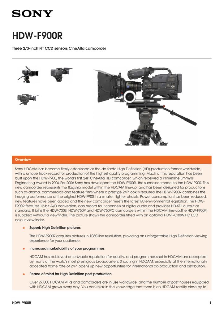 HDW-F900R Brochure   manualzz com