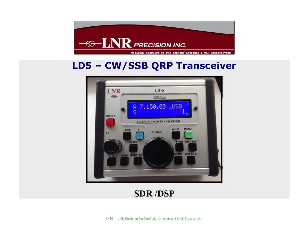 LD5 – CW/SSB QRP Transceiver SDR /DSP | manualzz com