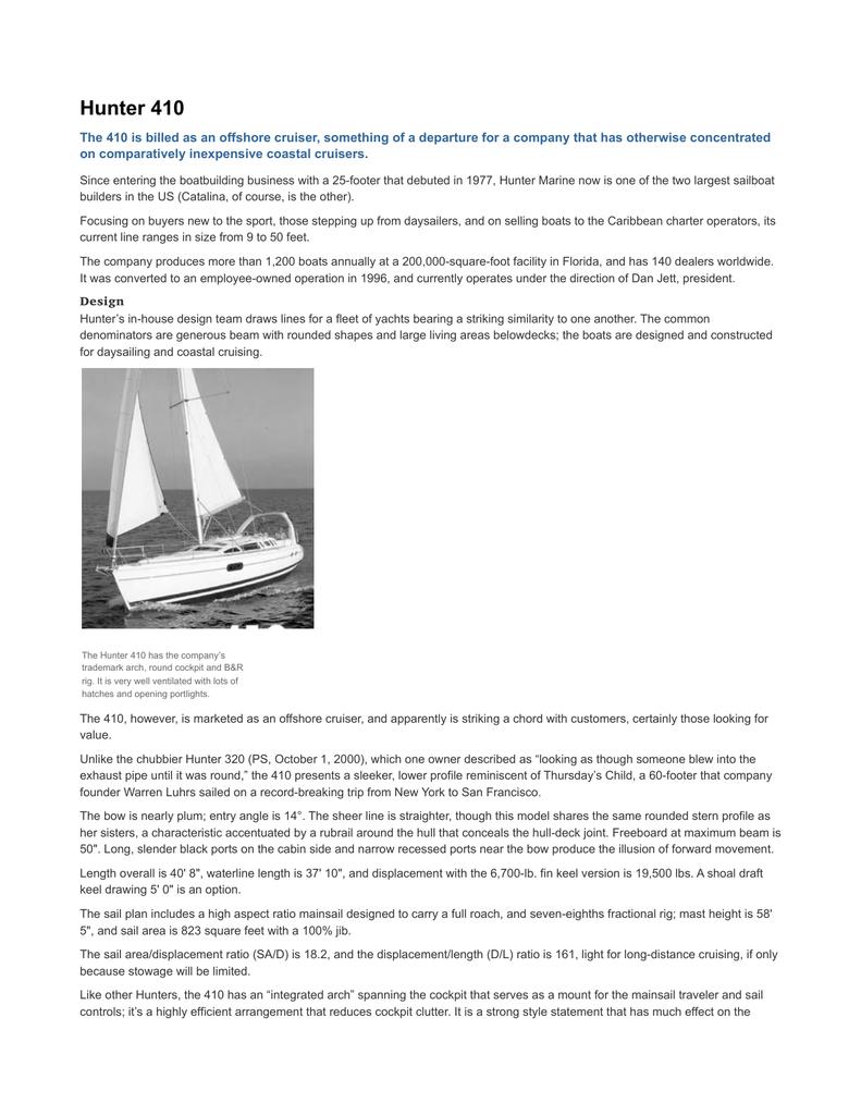 Hunter 410 - SailboatOwners com   manualzz com