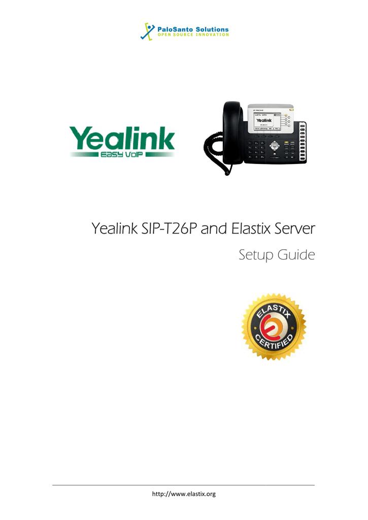 Yealink SIP-T26P Server Setup Guide | manualzz com
