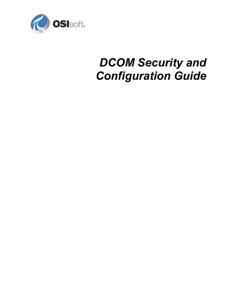 DCOM Configuration Guide | manualzz com