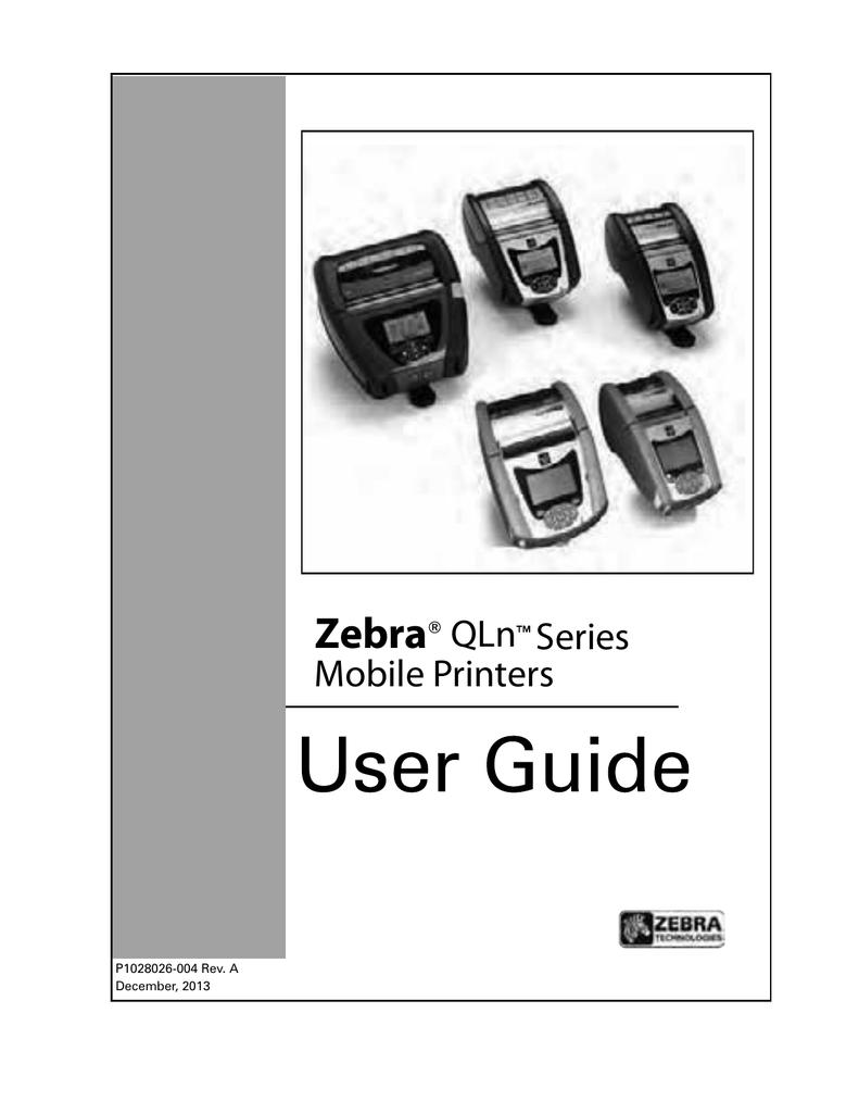 Zebra QLn Series Mobile Printers | manualzz com