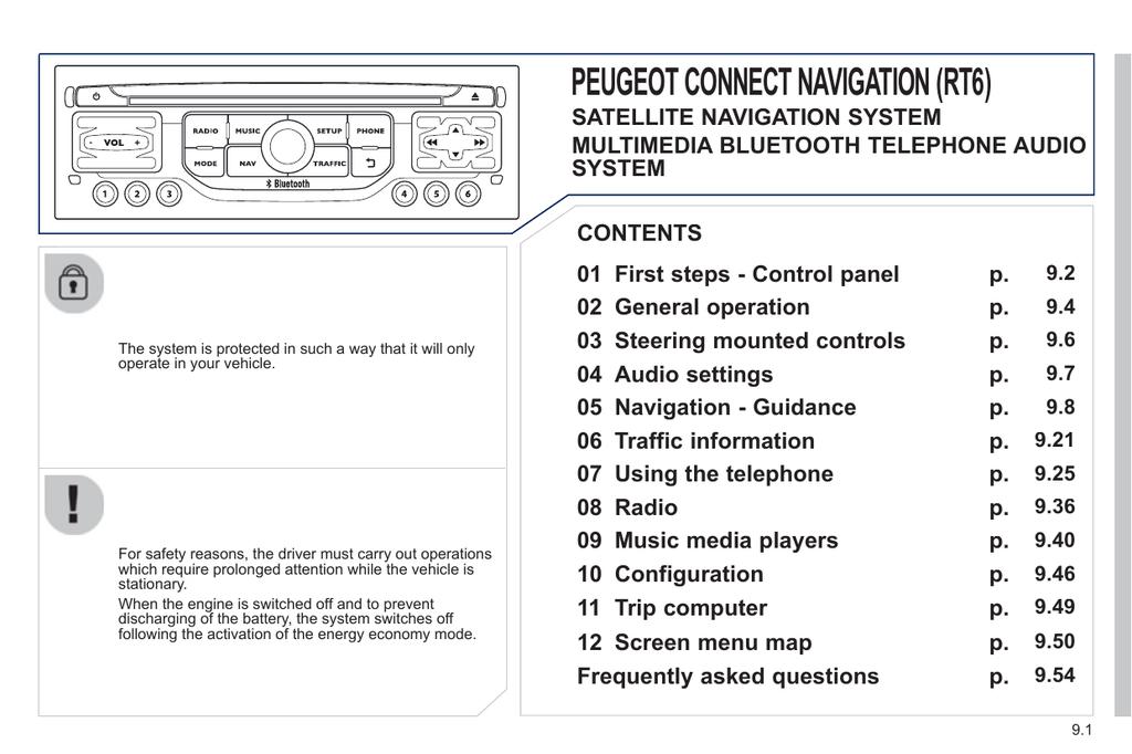 Peugeot radio economy mode