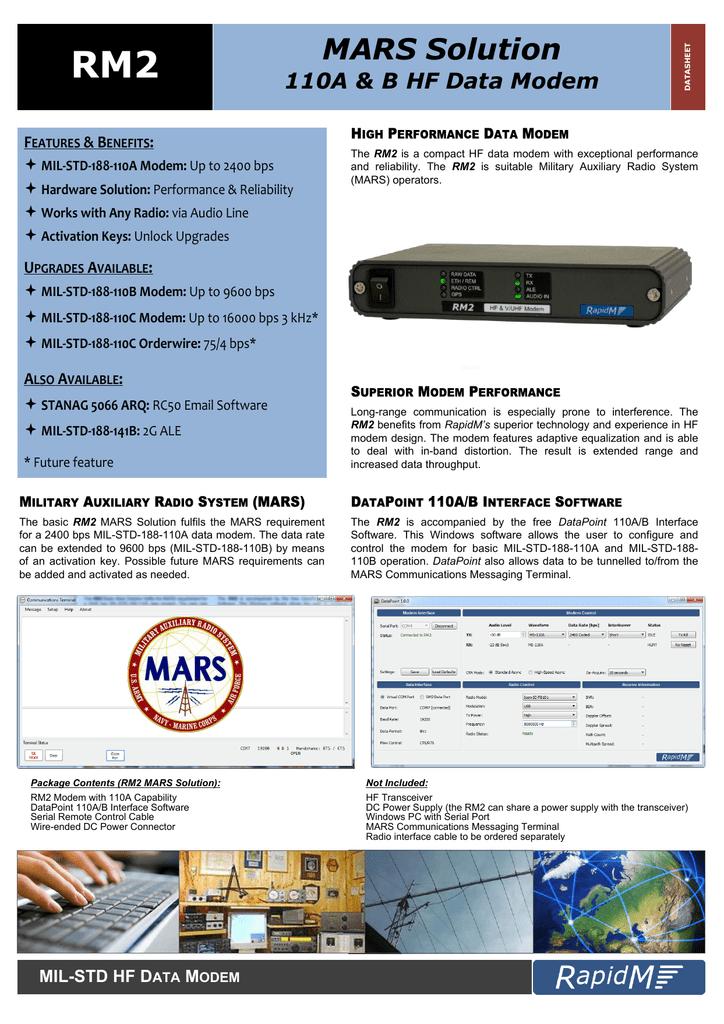 RM2 MARS Solution Datasheet | manualzz com