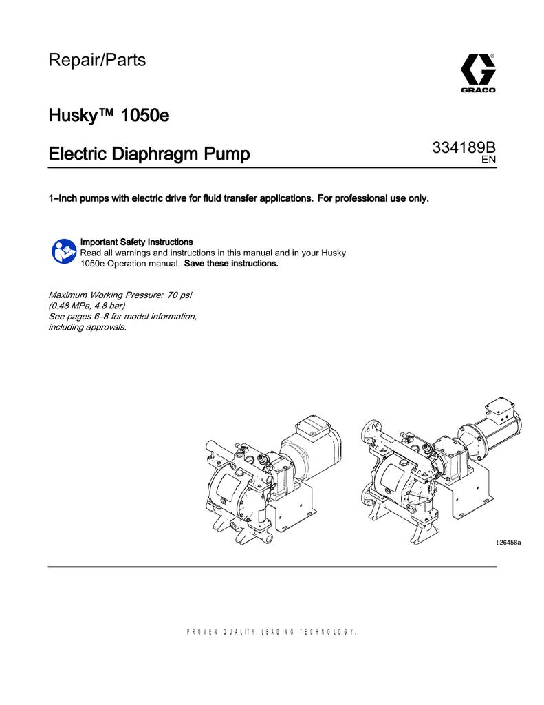 334189b husky 1050e electric diaphragm pump repairparts ccuart Images