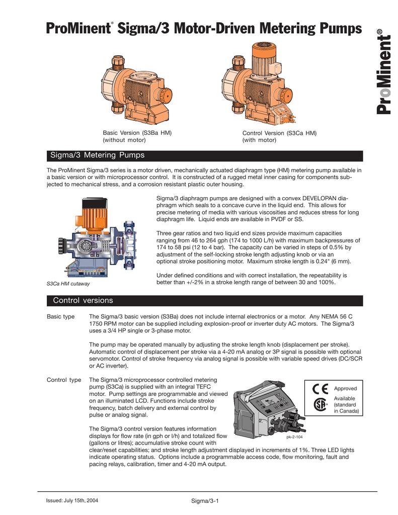 ProMinent® Sigma/3 Motor | manualzz com