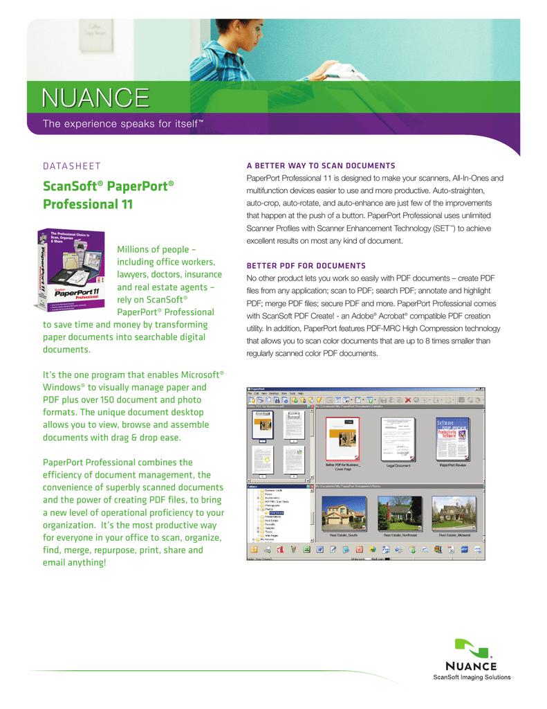 ScanSoft® PaperPort® Professional 11 | manualzz com