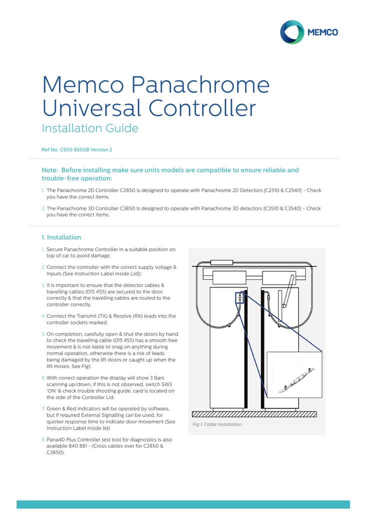 Memco Panachrome Universal Controller | manualzz com