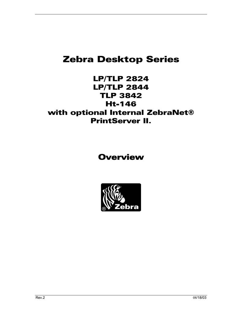 The Zebra LP/TLP 2844 with Internal ZebraNet® PrintServer II