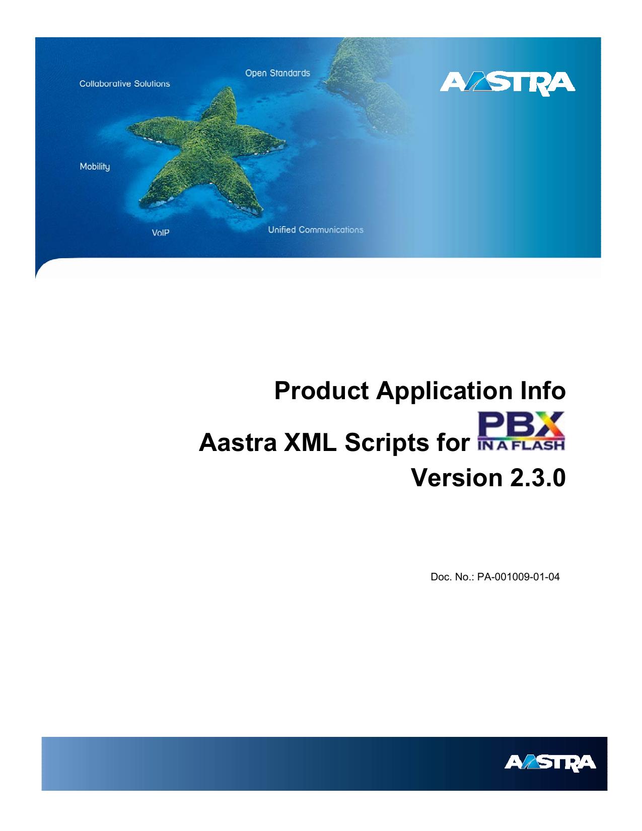 Aastra XML Scripts   manualzz com
