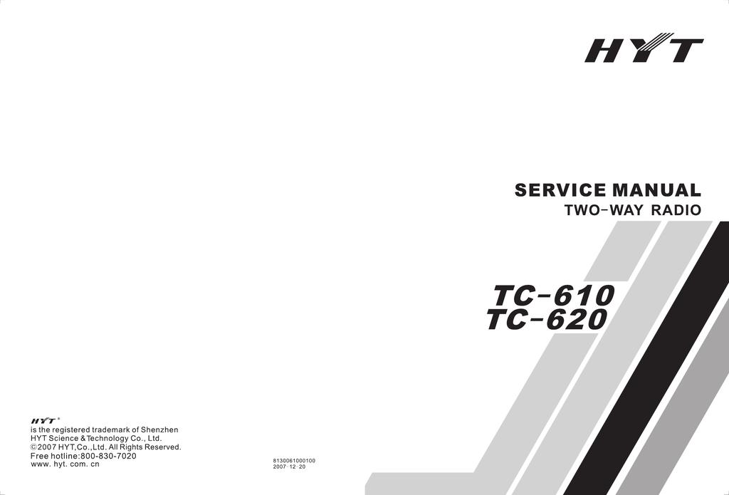 hyt tc 610 service manual