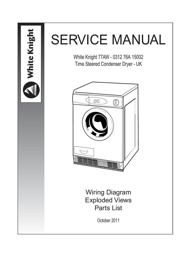 SERVICE MANUAL - White Knight Spares | Manualzz | White Knight Tumble Dryer Wiring Diagram |  | manualzz