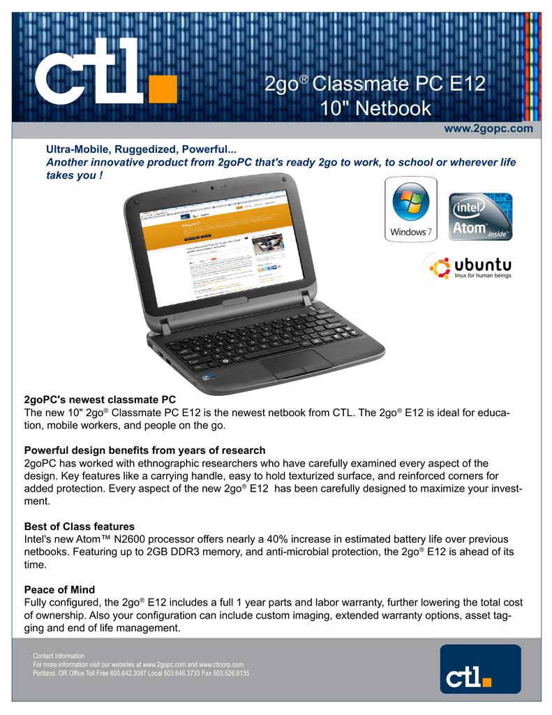 2go® Classmate PC E12 10