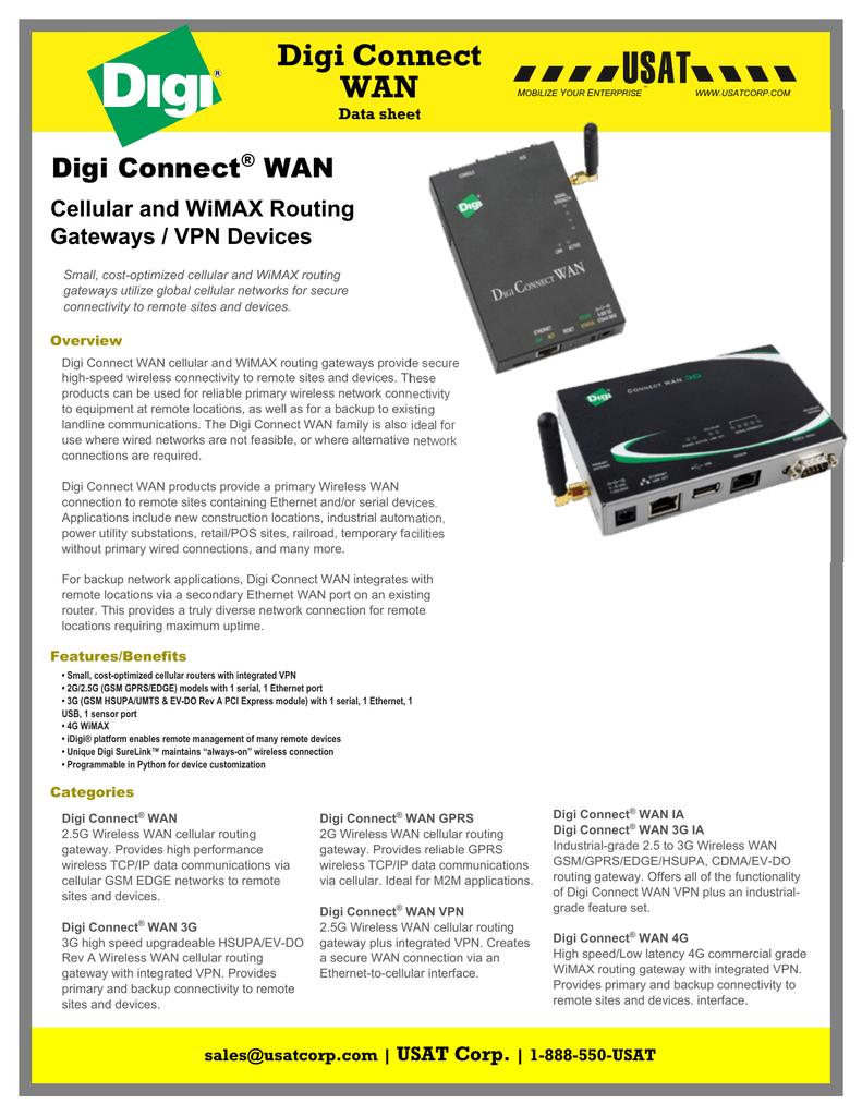 Digi Connect WAN   manualzz com
