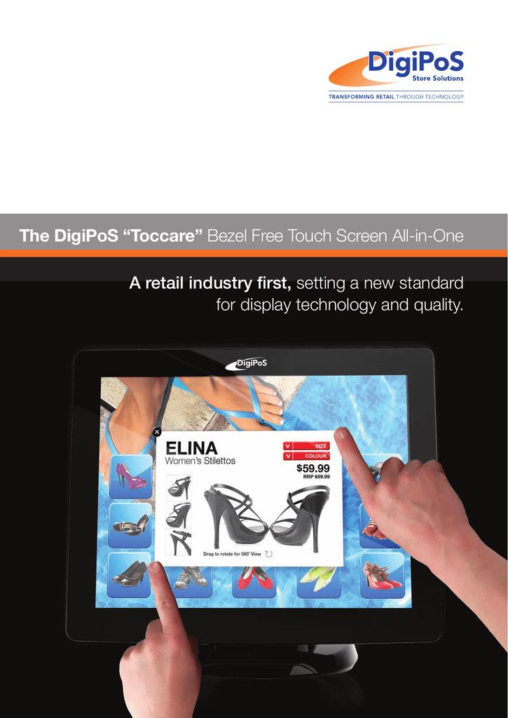 The Digipos Toccare Bezel Free Touch Screen Kassen Manualzz