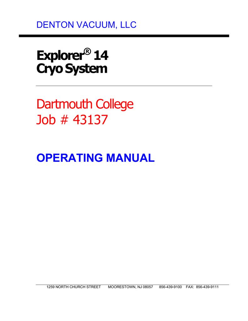 Operating Manual - Dartmouth College | manualzz com
