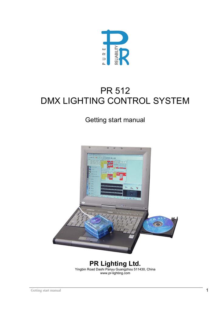 pr 512 dmx lighting control system | manualzz com