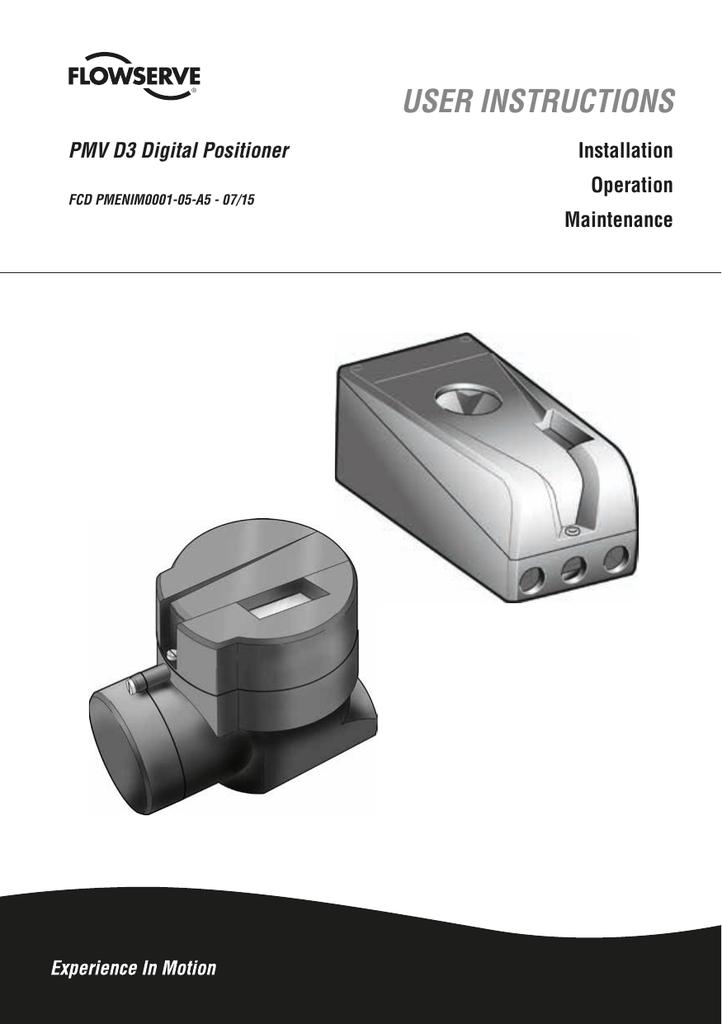 PMV D3 Digital Positioner User Instructions | manualzz com
